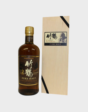 Nikka Taketsuru Pure Malt 12 Year Old (Wooden Box) Whisky - CaskCartel.com