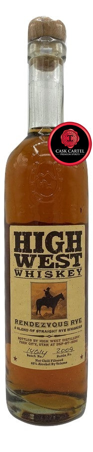 High West Rendezvous Rye Whiskey | Batch 14614 | 2009 Edition