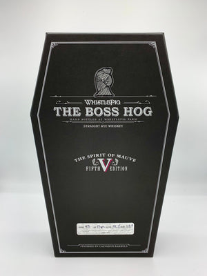 "WhistlePig The Boss Hog V ""The Spirit of Mauve"" Straight Rye Whiskey"