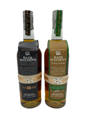 Basil Hayden's 10 Year & Basil Hayden's Two by Two SET Whiskey - CaskCartel.com