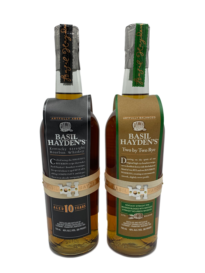 Basil Hayden's 10 Year & Basil Hayden's Two by Two  Whiskey SET