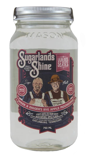 Sugarlands Shine Mark and Digger's Rye Apple Moonshine - CaskCartel.com
