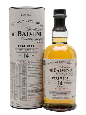 The Balvenie 14 Year Old Peated Peat Week Single Malt Scotch Whisky