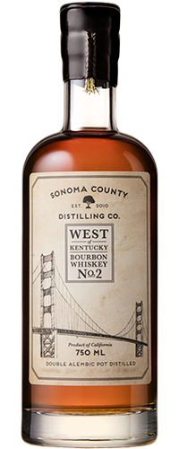 Sonoma County West of Kentucky No. 2 Bourbon Whiskey