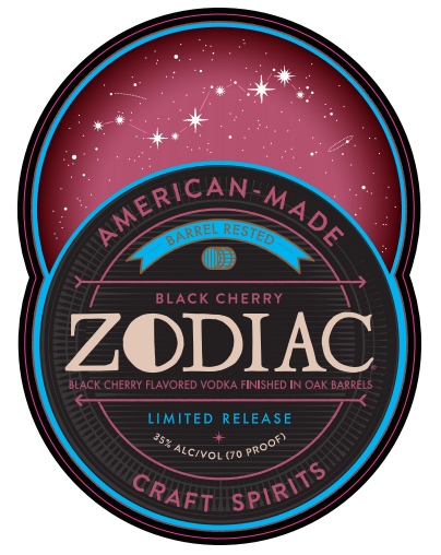 Zodiac Black Cherry Barrel Rested Vodka | Limited Release