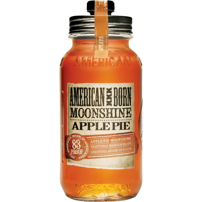 American Born Apple Pie Moonshine Whiskey