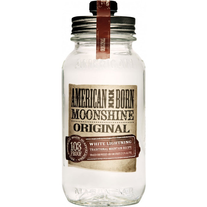 American Born White Lightning Moonshine Whiskey