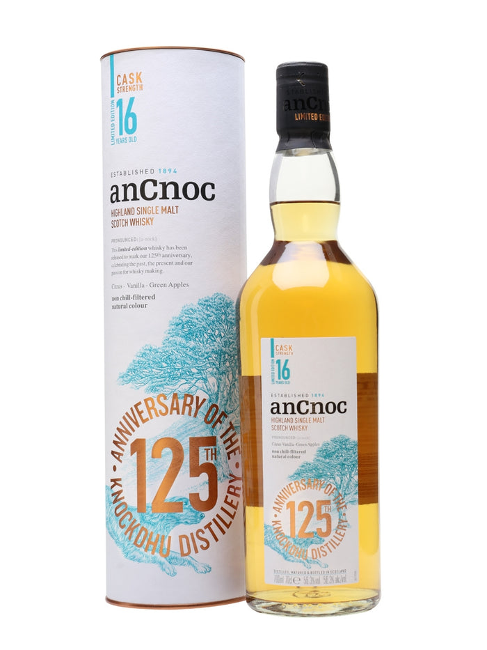 AnCnoc 16 Year Old Cask Strength 125th Anniversary Single Malt Scotch Whisky