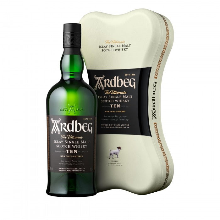 Ardbeg 10 Year Old Ardbone Gift Tin Single Malt Scotch Whisky