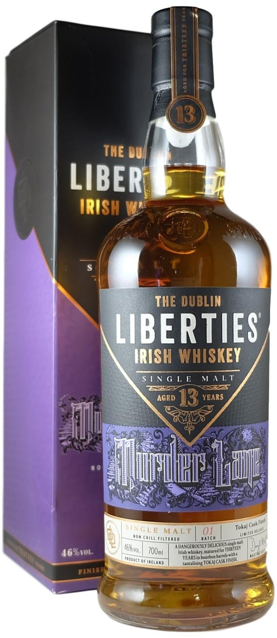 The Dublin Liberties 13 Year Old Murder Lane Single Malt Irish Whiskey