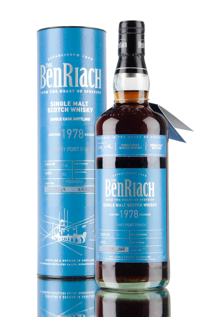 Benriach 1978 37 Year Old Batch 13 Cask #3114 Speyside Single Malt Scotch Whisky