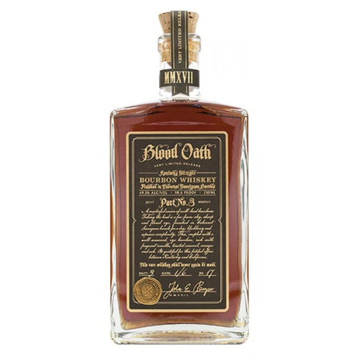 Blood Oath Kentucky Straight Bourbon Whiskey Pac No. 3