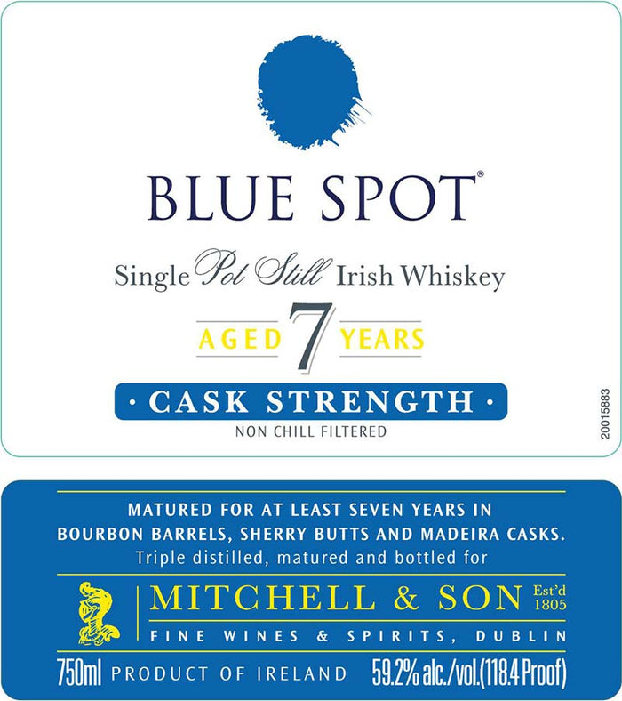 Blue Spot Single Pot Still Irish Whiskey