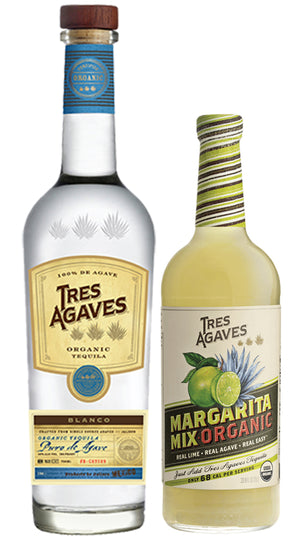 Tres Agaves Blue Blanco Tequila With Margarita Mix - CaskCartel.com