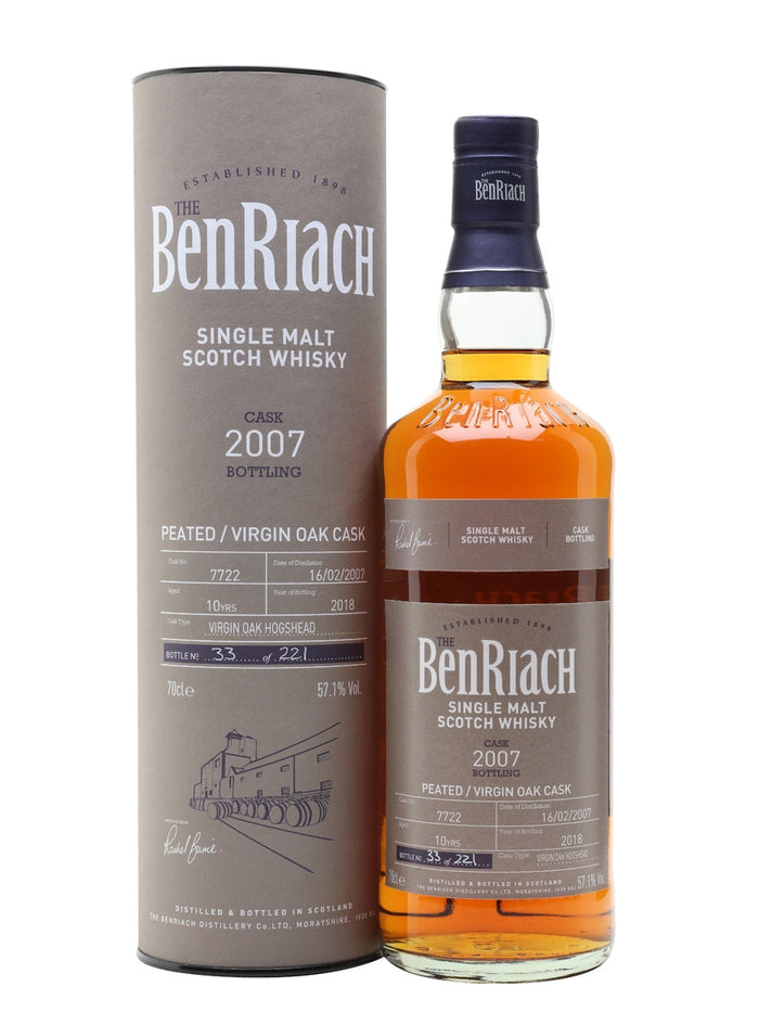 BenRiach 2007 10 Year Old Batch 15 Cask #7722 Speyside Single Malt Scotch Whisky