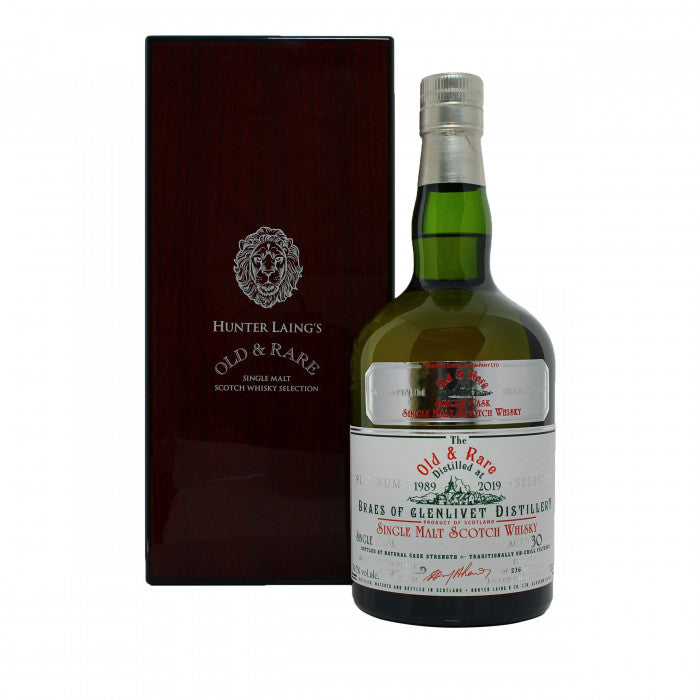 Braes of Glenlivet 30 Year Old 1989 Old & Rare Platinum Single Malt Scotch Whisky