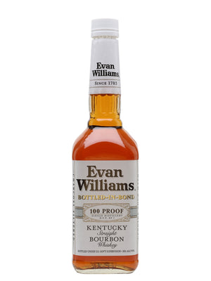Evan Williams White Label Bottled in Bond Kentucky Straight Bourbon Whiskey - CaskCartel.com