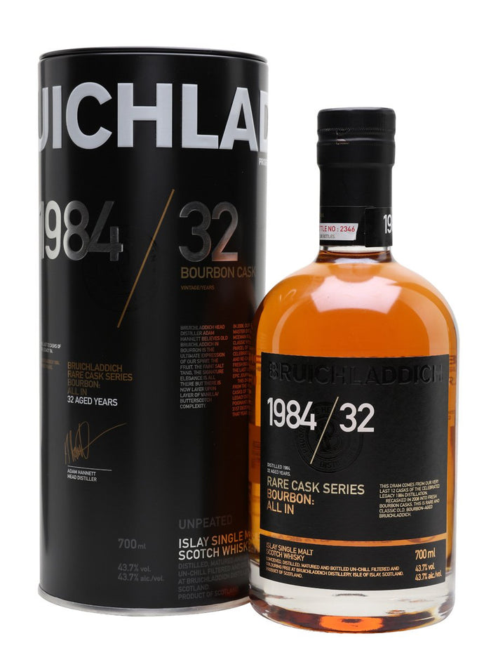 Bruichladdich 32 Year Old 1984 Rare Cask Series Scotch Whisky