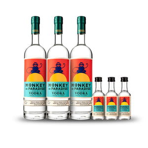 Monkey In Paradise Vodka 3pack Bundle w/Free Minis at CaskCartel.com