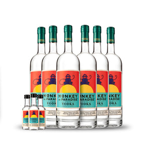 Monkey In Paradise Vodka 1 Liter (6) PACK CASE w/Free Minis (3)