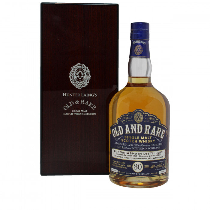 Bunnahabhain 30 Year Old and Rare Single Malt Scotch Whisky