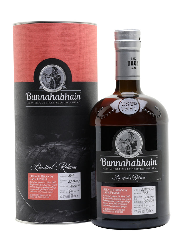 Bunnahabhain 2007 11 Year Old French Brandy Cask Finish Single Malt Scotch Whisky