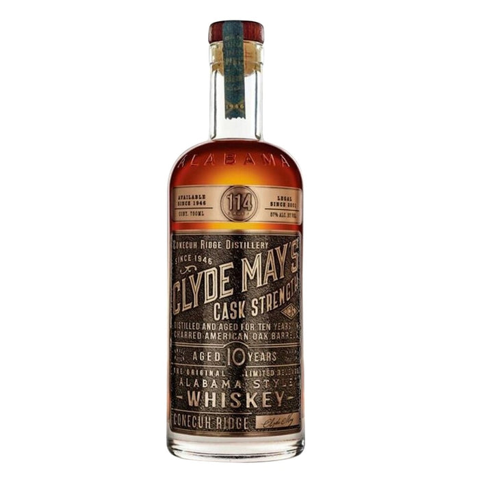 Clyde May's 10 Year Old Cask Strength Alabama Style Whiskey