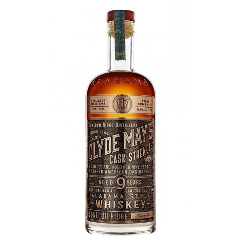 Clyde May 9 Year Old Cask Strength Alabama Whiskey