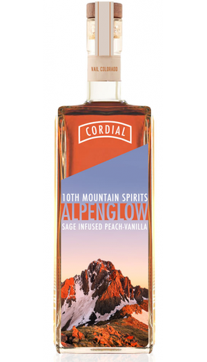 10th Mountain Alpenglow Sage Infused Peach-Vanilla Cordial  at CaskCartel.com