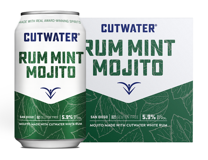 Cutwater Spirits Rum Mint Mojito Canned Cocktail