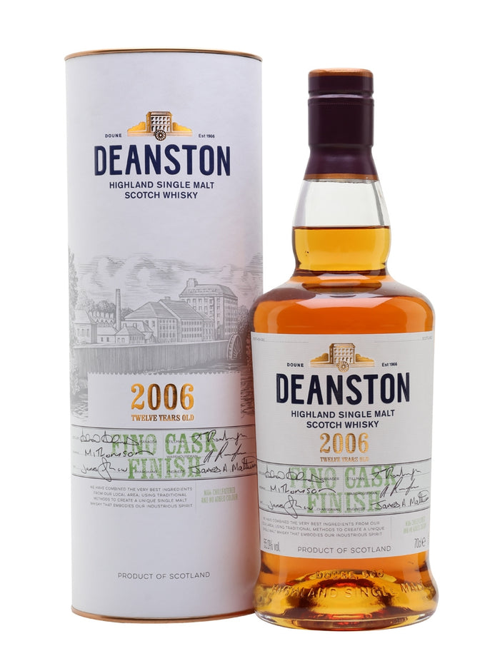 Deanston 2006 12 Year Old Fino Finish Single Malt Scotch Whisky