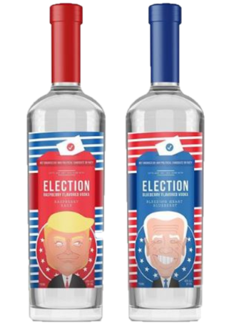 Election Spirits Vodka 2 Bottle Set (INCUMBENT & CHALLENGER)