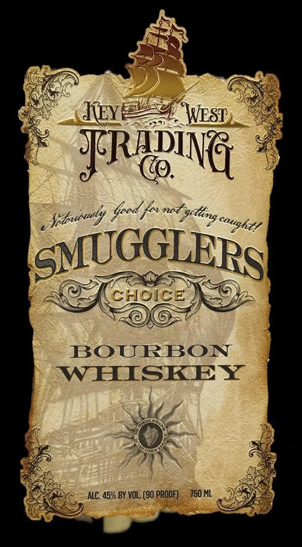 Key West Trading Company Smugglers Choice Bourbon Whiskey