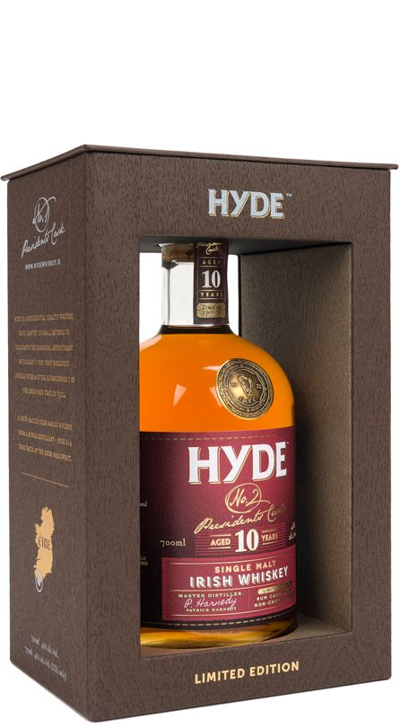 Hyde No. 2 Presidents Cask 10 Year Old Rum Cask Finish Single Malt Irish Whiskey