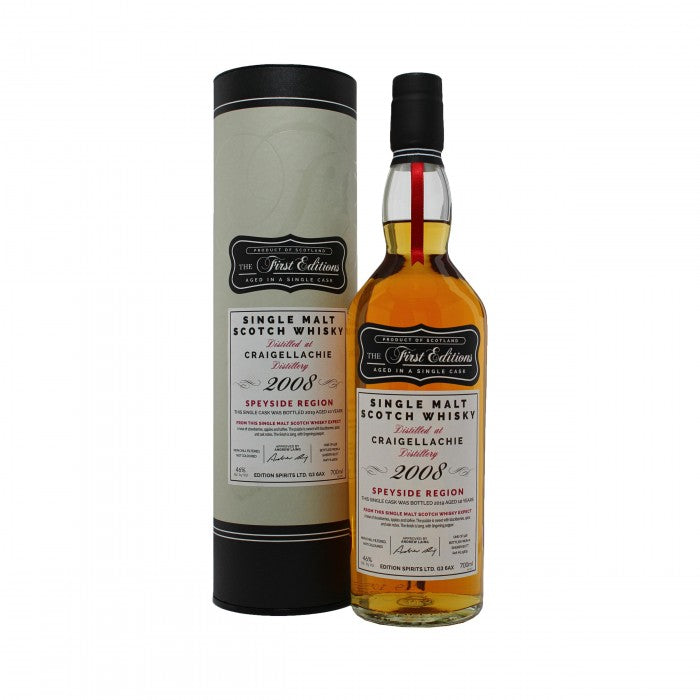 Craigellachie 2008 First Editions 10 Year Old Single Malt Scotch Whisky