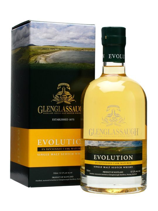 Glenglassaugh Distillery Evolution Ex-Tennessee Cask Matured 114.4 Proof Single Malt Scotch Whisky