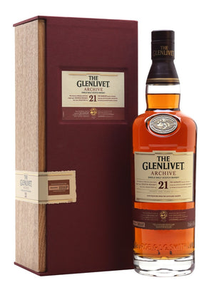 Glenlivet 21 Year Old Archive Speyside Single Malt Scotch Whisky | 700ML at CaskCartel.com