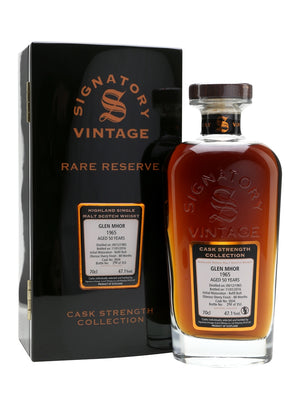 Glen Mhor 1965 50 Year Old Rare Reserve (Signatory) Speyside Single Malt Scotch Whisky - CaskCartel.com
