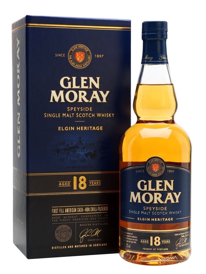 Glen Moray 18 Year Old Elgin Heritage Single Malt Scotch Whisky