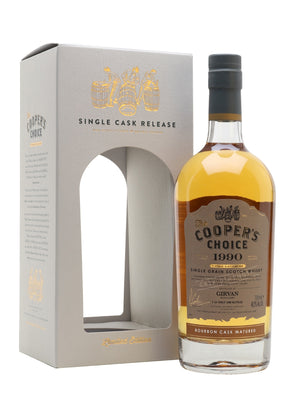 Girvan 1990 30 Year Old The Cooper's Choice Single Grain Scotch Whisky | 700ML at CaskCartel.com
