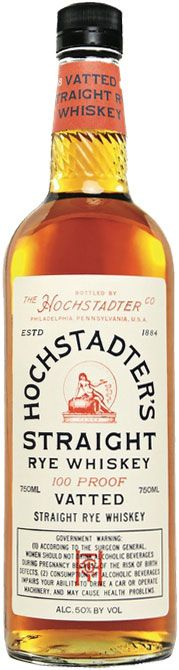 Hochstadter's Vatted Straight Rye Whiskey