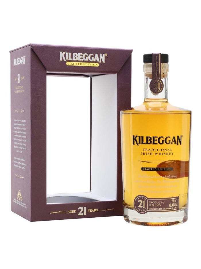 Kilbeggan 21 Year Old Blended Irish Whiskey