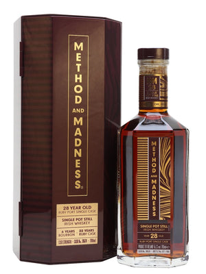 Method & Madness 28 Year Old Ruby Port Cask Irish Single Malt Whiskey at CaskCartel.com