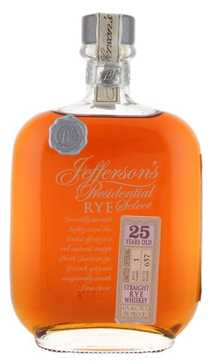 Jefferson's Presidential Select 25 Year Old Btach 1 Straight Rye Whiskey - CaskCartel.com