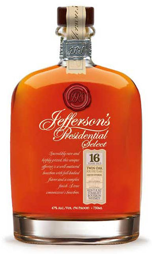 Jefferson's Presidential 16 Year Old Select Batch No. 1 Kentucky Straight Bourbon Whiskey at CaskCartel.com