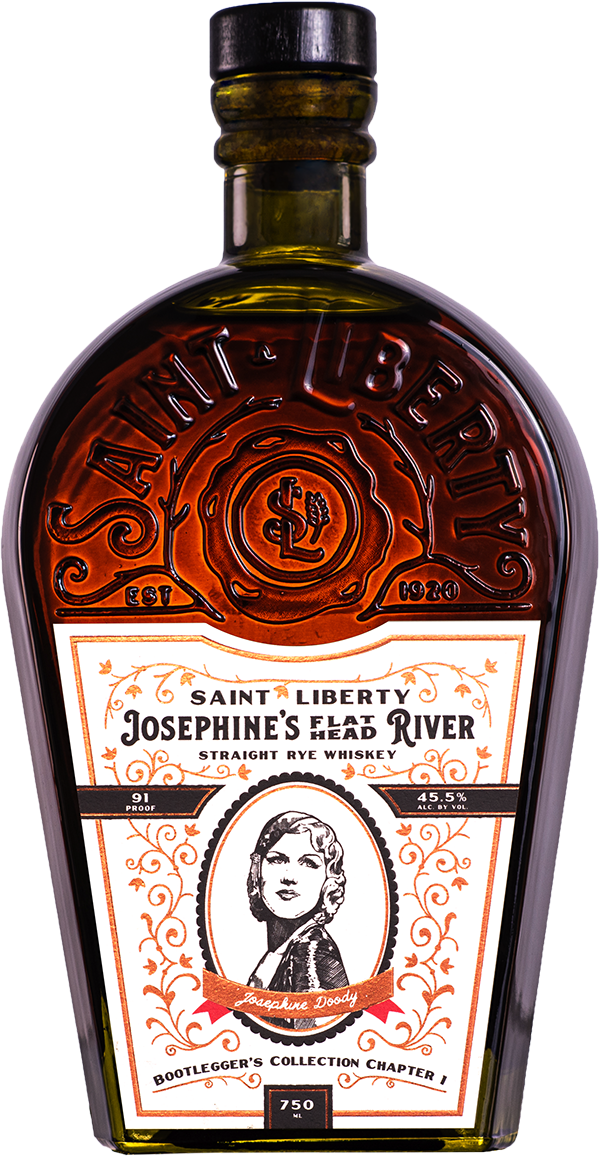 Saint Liberty Josephine's Flat Head River Straight Rye Whiskey