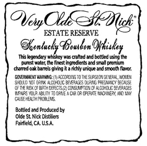 Very Olde St. Nick Estate Reserve Kentucky Bourbon Whiskey