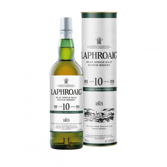 Laphroaig 10 Year Old Cask Strength Batch 009 Islay Single Malt Scotch Whisky