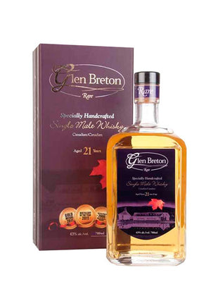 Glen Breton Rare 21 Year Old Canadian Single Malt Whisky at CaskCartel.com