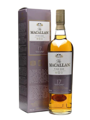 The Macallan Fine Oak 17 Year Old Single Malt Scotch Whisky - CaskCartel.com